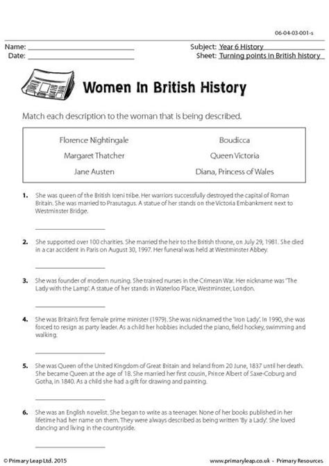 primaryleap co uk famous women in history worksheet history printable worksheets primary
