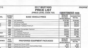2017 mustang price list 2015 mustang forum news blog With mustang gt invoice