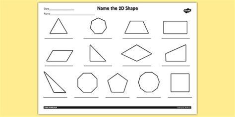 name the 2d shape year 4 worksheet worksheet 2d shape