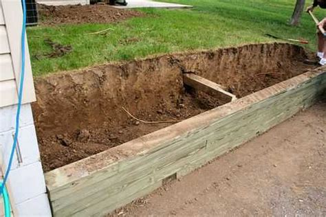 how to build a wood retaining wall wood retaining wall memes