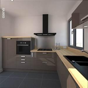 Cuisine Plan De Travail Bois : cuisine bois cuisine taupe et plan de travail bois ~ Dailycaller-alerts.com Idées de Décoration