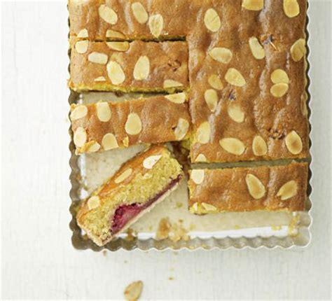 raspberry bakewell slice recipe bbc good food