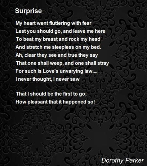 surprise poem  dorothy parker poem hunter