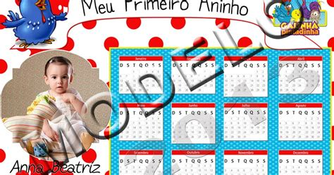 Artes Da Lu: Calendário 2013 Galinha Pintadinha