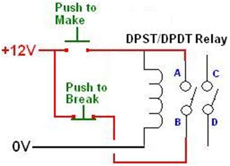 wiring 8 pin dpdt relay for two button on