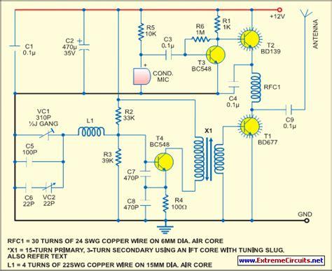 Simple Short Wave Transmitter Circuit Diagram Instructions