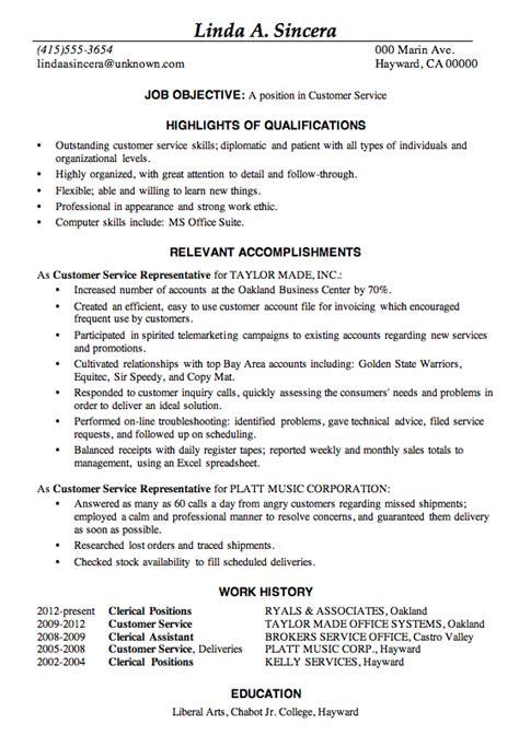 Customer Service Resume Format by Resume Sle Customer Service This Sle Resume Is