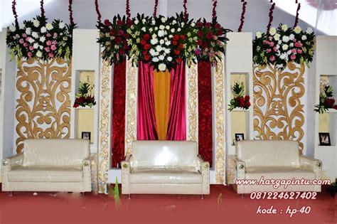 dekorasi pelaminan minimalis putih gold harga pintu