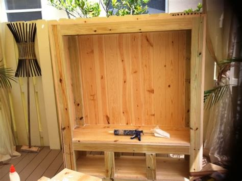 building entertainment center  outdoor  pinterest