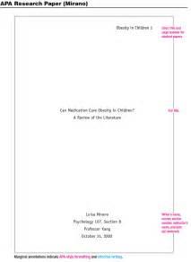 APA Format Example Paper