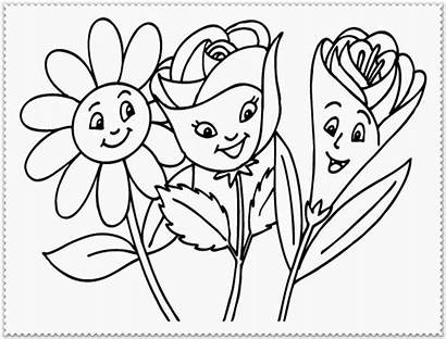Coloring Pages Spring Flowers Flower Realistic Human