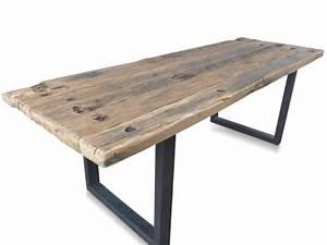Tische Massivholz Günstig : massivholz esstisch industrial chic design aus recycling ~ Pilothousefishingboats.com Haus und Dekorationen