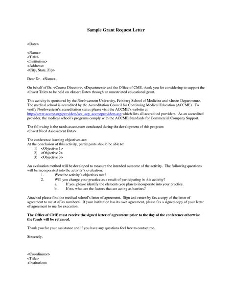 grant request letter write  grant request letter