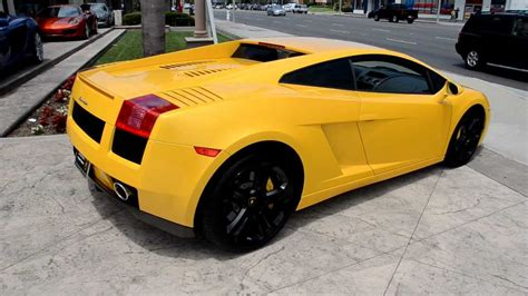 yellow lamborghini gallardo coupe  lamborghini