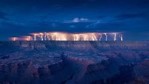 Lightning, Landscape, Desert, Wallpapers, Hd, Desktop, And
