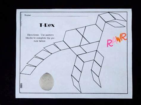 pattern blocks dinosaur puzzles    images
