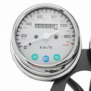 Universal Motorcycle Speedometer Odometer Tachometer Gauge