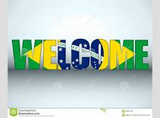 Brazil Flag Welcome Soccer Letters Background Royalty Free