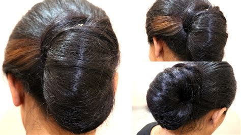 simple juda messy bun   minute indian wedding juda