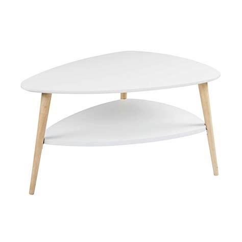Table Basse Scandinave Blanche Spring  Maisons Du Monde