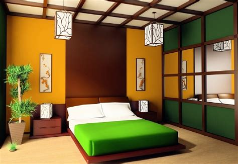 Rustic Kitchen Design Ideas - colorful japanese bedroom style with big mirror decolover net
