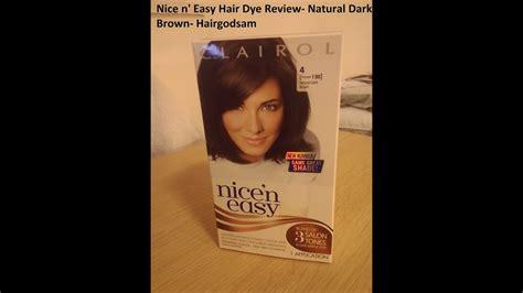 Nice'n Easy Hair Dye Review Natural Dark Brown Youtube