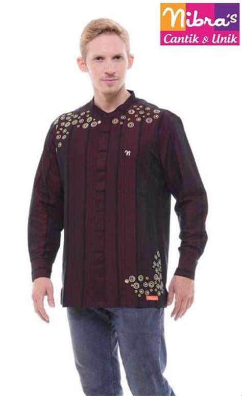 jual new baju koko laki laki murah nibras nk 09 marun original baju koko di lapak yusie house