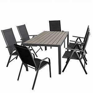 Polywood Gartenmöbel Set : gartenm bel set aluminiumtisch mit grauer polywood tischplatte 150x90cm 4x verstellbare alu ~ Frokenaadalensverden.com Haus und Dekorationen