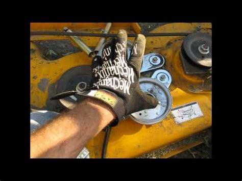cub cadet mower deck belt problems cub cadet mower belt coming deck fix lt 1045 part 1