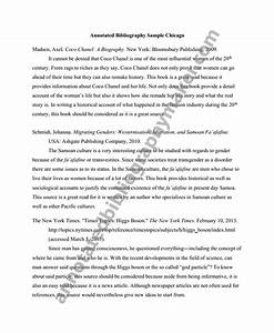 Get a Chicago Style Annotated Bibliography Online ...