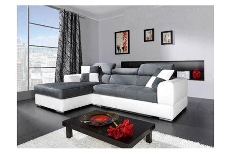 but canapé angle canapé d 39 angle madrid i cuir pu et microfibre gris et