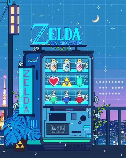 Machine Zelda Vending Artstation Kuang Ronald