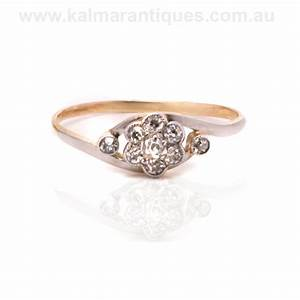 Antique diamond cluster engagement ring from the early 190039s for Cluster wedding rings