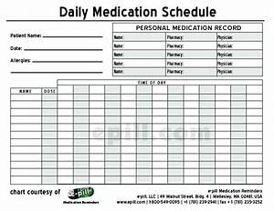 free daily medication schedule free daily medication With medication signing sheet template