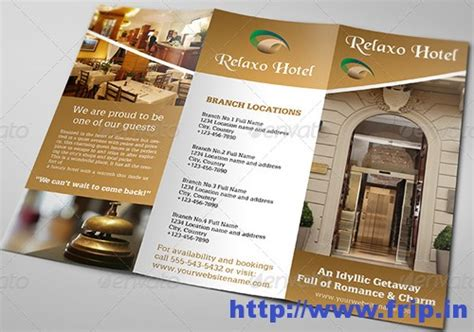 Free Hotel And Motel Tri Fold Psd Brochure By Elegantflyer 50 Best Hotel Brochure Print Templates 2016 Frip In