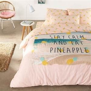 Housse de couette ananas folies housses de couette la for Chambre design avec housse de couette ananas 200x200