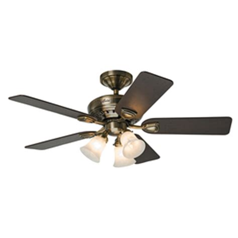 prestige ceiling fan shop prestige by bixby 46 in antique brass downrod