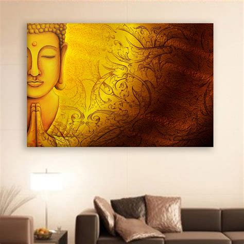 Painting Living Room Walls by Canvas Painting Beautiful Buddha Religious Wall