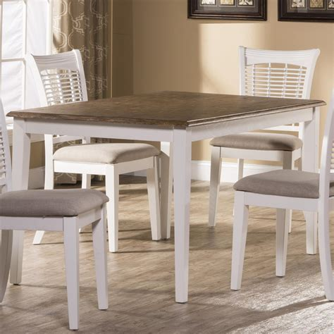 hillsdale bayberry white casual rectangular dining table