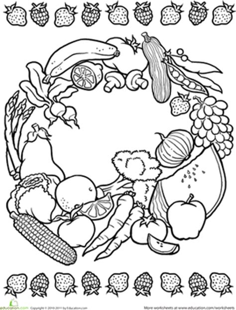 images  fruit color worksheet coloring pages