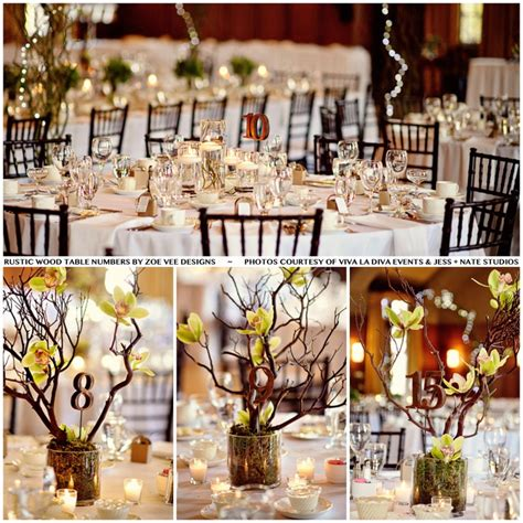 Rustic Wooden Table Numbers For Wedding Decor Love These