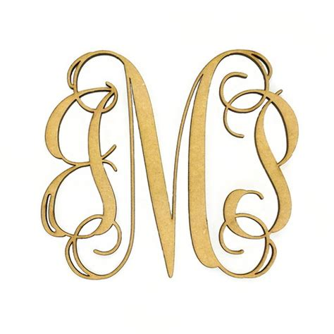 wooden  letter monogram large  small unfinished cursive wooden letter perfect