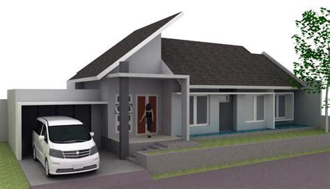 gambar desain rumah melebar  samping mainan anak