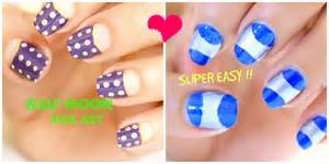 Quick nail design ideas : Easy and quick half moon nail art designs