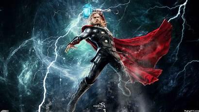 Thor Wallpapers Mjolnir Lightning Hemsworth Chris Marvel