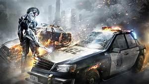 Full HD Wallpaper metal gear rising revengeance police car
