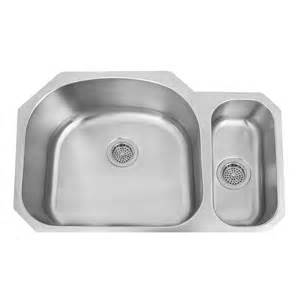 stainless steel undermount sink 32 quot infinite 80 20 offset double bowl stainless steel