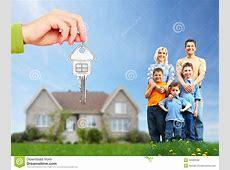 Happy Family Near New House Stock Photo Image 35582048