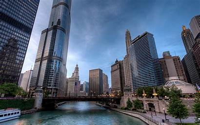 Chicago Illinois Wallpapers Avenue Wabash Summer River