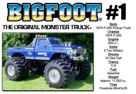 1979 bigfoot monster truck bigfoot 1 bigfoot 4 4 inc monster truck racing team